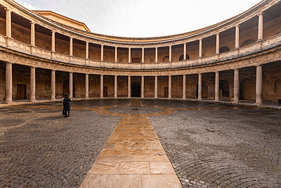 Spain, Granada, Alhambra, Palacio de Carlos V - p1332m2205616 by Tamboly