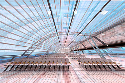 3D Rendered Illustration, Architecture visualization of a airport - p300m2103951 by Spectral photography