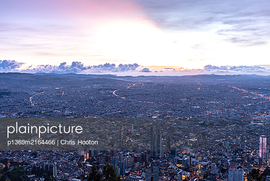 View of Bogota from Monserrate - p1369m2164466 by Chris Hooton