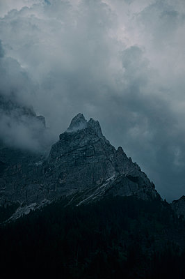 Pale di San Martino with clouds - p470m2148490 by Ingrid Michel