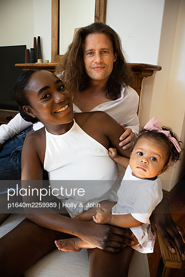 Multi ethnic family with toddler girl - p1640m2259989 by Holly & John