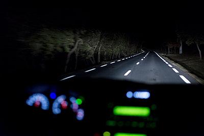 Country road at night - p1041m1042385 by Franckaparis
