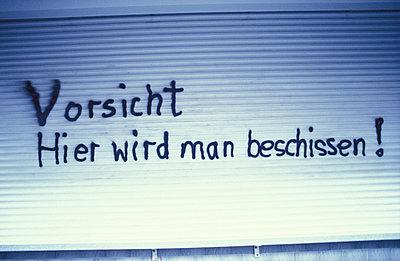Vorsicht Warnung - p2370016 von Thordis Rüggeberg