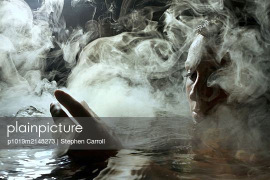 Bathing woman - p1019m2148273 by Stephen Carroll