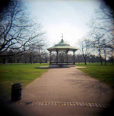 Bandstand and trees in Greenwich Park - p1072m829457 by Neville Mountford-Hoare