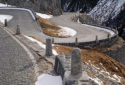 A winding mountain road, Tessin, Switzerland - p3018926f by Gerhard Fitzthum