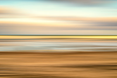 Coastal scene with motion blur effect. - p1436m1573251 by Joseph S. Giacalone