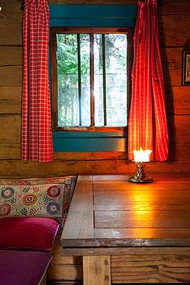 Log Cabin chalet interior old fashioned Austria  - p609m765468 by WRIGHT