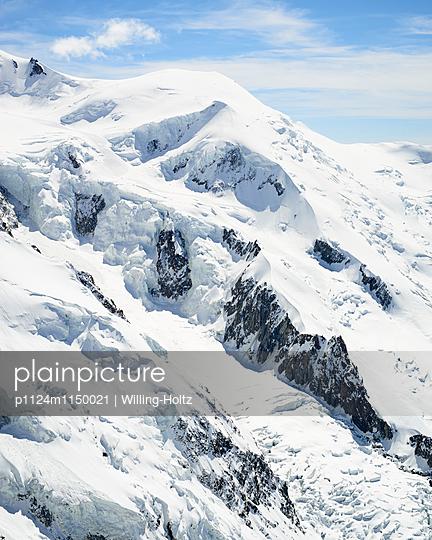 Blick auf den Gletscher am Mont Blanc - p1124m1150021 von Willing-Holtz