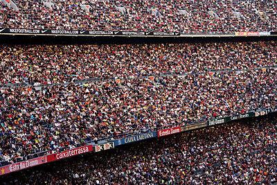 Spectators in a soccer stadium Barcelona. - p31218415f by Per Eriksson
