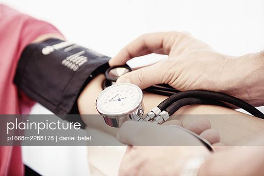 Blood pressure measurement - p1668m2288178 by daniel belet