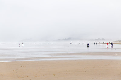 Going for a walk along the shore - p756m2053402 by Bénédicte Lassalle