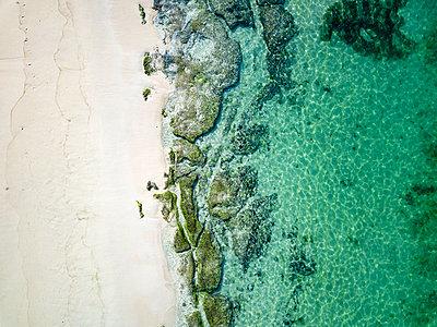 Indonesia, Bali, Aerial view of Karma beach - p300m2029942 von Konstantin Trubavin
