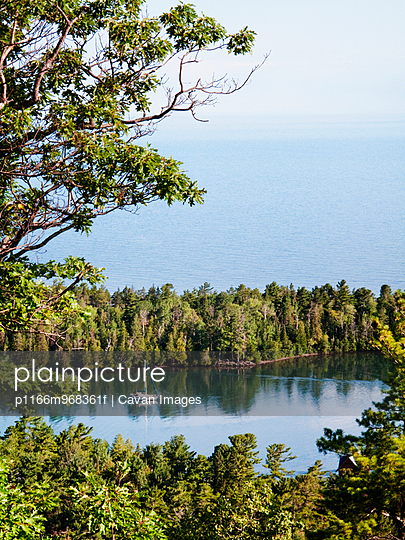 View of Harbor and Lake Superior