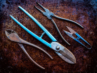 Pliers and shears - p1427m2038169 by WalkerPod Images
