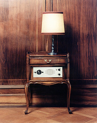 A lamp on a side table - p3013177f by fStop