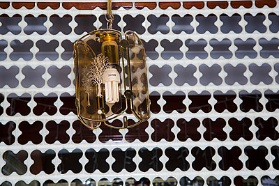 Hanging lamp with energy saving bulb - p1057m890550 by Stephen Shepherd