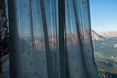 Blick aus der Nuvolauhütte auf Cortina d'Ampezzo - p470m1190151 von Ingrid Michel