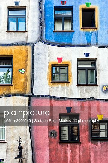 Hundertwasserhaus, Vienna, Austria - p651m2006243 by Stefano Politi Markovina photography