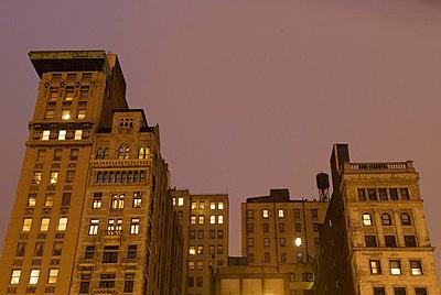 Buildings on Union Square Illuminated at Night, New York City - p5690131 by Jeff Spielman