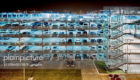 Carpark at night - p1125m2013978 by jonlove