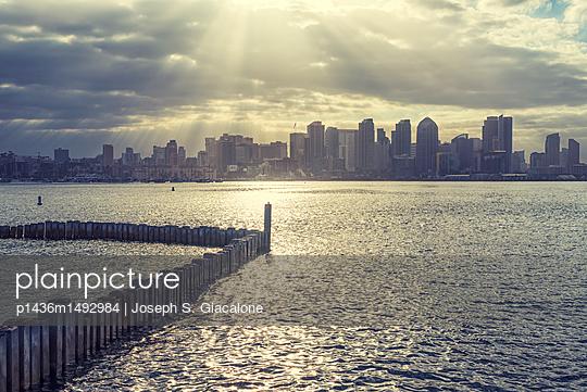 San Diego Harbor and Skyline - p1436m1492984 by Joseph S. Giacalone