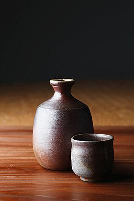 Japanese traditional pottery - p307m1106031f by Hideki Yoshihara