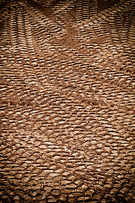 Tyre tracks in earth mud sand marks pattern Tire - p609m1219801 by STUDD