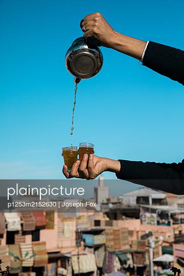 Marrakesh, A break with mint tea - p1253m2152630 by Joseph Fox