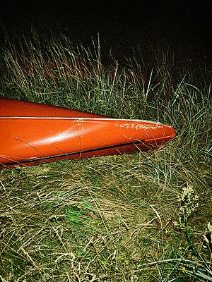 Night canoe - p1481m2030783 by Peo Olsson