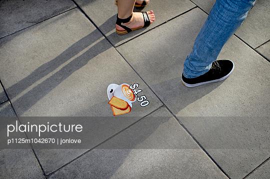 Sidewalk advert - p1125m1042670 by jonlove