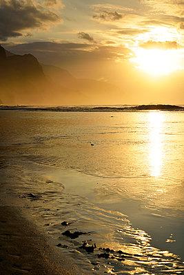 Sunset, Hanalei, Kauai, Haweii - p1196m1015244 by Biederbick & Rumpf
