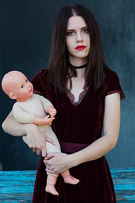 Girl with pale skin - p1412m2133494 by Svetlana Shemeleva