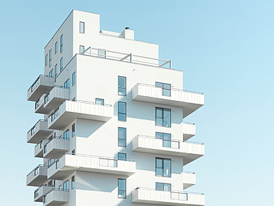 View of modern block of flats - p312m2139861 by Michael Jšnsson