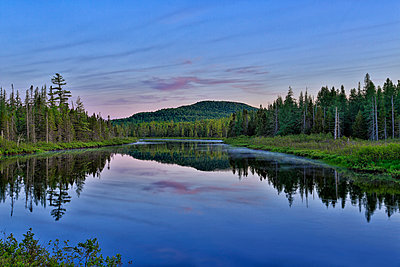 Scenic View Of Saint Regis River In Adirondack Park - p343m1218028 by Johnathan Ampersand Esper