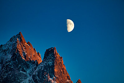 Alpin moonrise - p1553m2142500 by matthieu grospiron