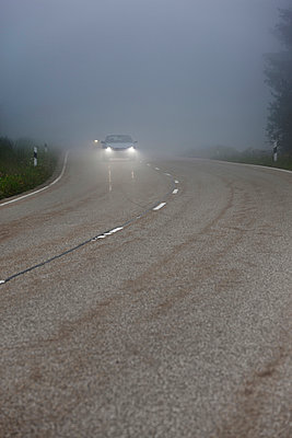 Foggy street - p248m933069 by BY