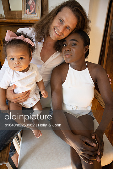 Multi ethnic family with toddler girl - p1640m2259982 by Holly & John