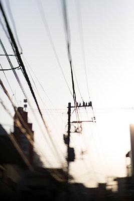 Stromleitung - p445m911826 von Marie Docher