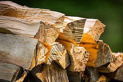 Holzscheite, Feuerholz - p1418m2124809 von Jan Håkan Dahlström