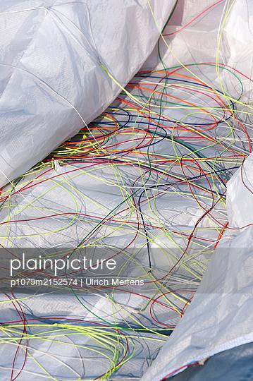 Paraglider with paraglider lines - p1079m2152574 by Ulrich Mertens