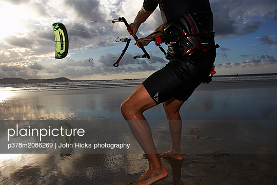 kiteboarder - p378m2086269 by John Hicks photography