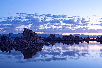 Tufa rock formation, mono lake, california, usa - p924m711175f by Pete Saloutos