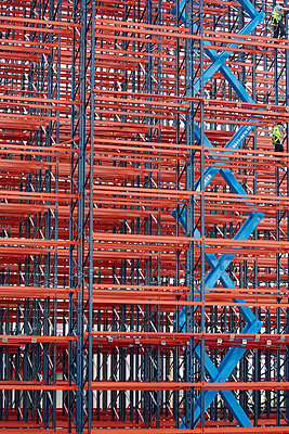 Constructing high rack storehouse - p719m1333195 by Rudi Sebastian