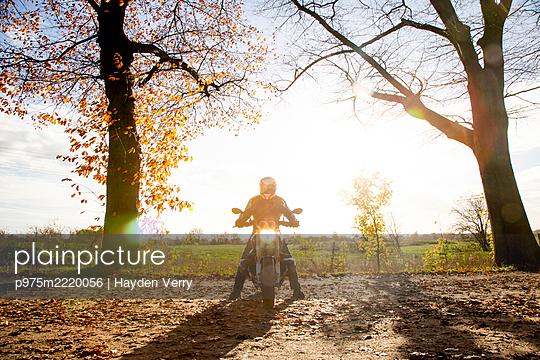 Motorbiker - p975m2220056 by Hayden Verry