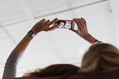 Selfie - p1301m2028578 by Delia Baum