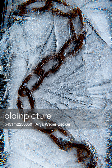Chain in ice - p451m2258050 by Anja Weber-Decker