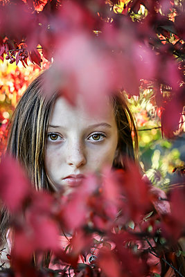 Teenage Girl among Trees - p1019m1487231 by Stephen Carroll