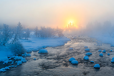 River at winter - p312m1570564 by Mikael Svensson