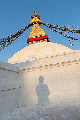 Stupa im Ortsteil Bodnath von Kathmandu - p949m948560 von Frauke Schumann